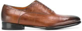 Santoni textured Oxford shoes