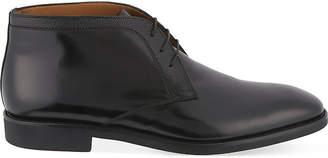 Stemar Mens Black Trim 3 Eye Chukka Leather Boots
