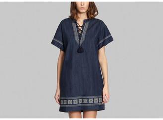 Clothing Women Short Dresses Ath? Vanessa Bruno Ginie Dress 35628 denim Ginie Dress 35628 denim