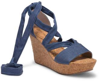 Kenneth Cole Reaction Sole Rise Platform Wedge Sandal