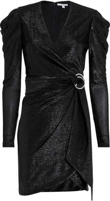 Jonathan Simkhai Puff Shoulder Metallic Dress