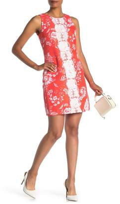 Vince Camuto Floral Lace Sleeveless Shift Dress