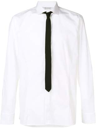 Neil Barrett classic contrasting tie shirt