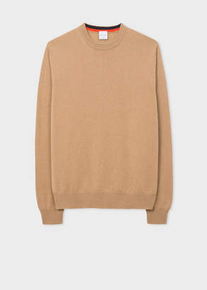 Paul Smith Men's Camel Cashmere Crew Neck Sweater