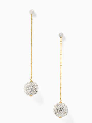 Kate Spade Razzle dazzle linear statement earrings