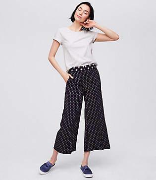 LOFT Wide Leg Crop Pants in Bandana Mosaic