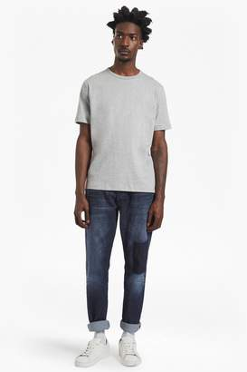 French Connection Snakeboard Stretch Slim Patchwork Jeans