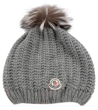 2c3a91238d4 Moncler Wool Pom-Pom Beanie