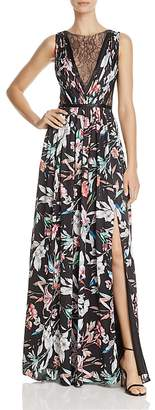 Adrianna Papell Illusion-Bodice Printed Gown $199 thestylecure.com