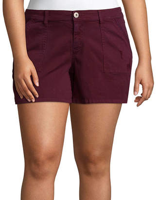 Arizona 4 1/2 Utility Midi Shorts-Juniors Plus