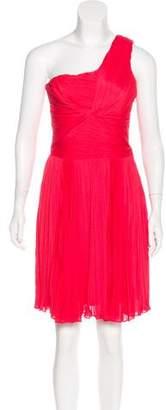 Halston Sleeveless Plissé Dress
