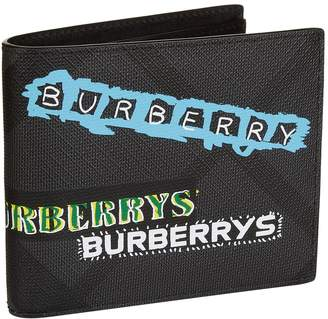 Burberry Graffiti Logo Bifold Wallet