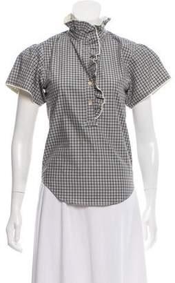 Isabel Marant Plaid Button-Up Shirt