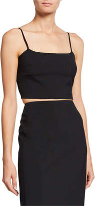Alexander Wang Washable Wool Square-Neck Crop Top
