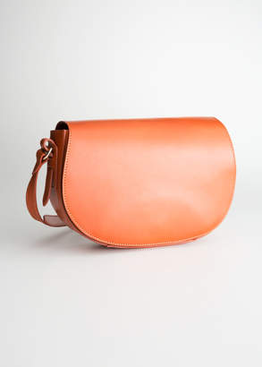 And other stories Leather Crossbody Saddle Bag