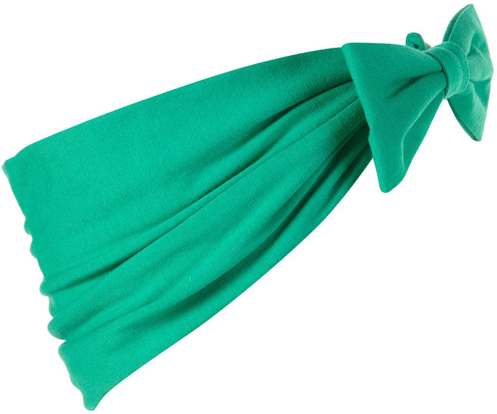 Green Jersey Bow Headband