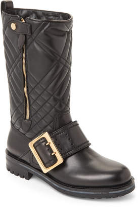 Burberry Black Quilted Biker Boots