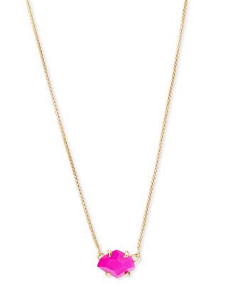 Kendra Scott Ethan Gold Pendant Necklace In Aqua Howlite