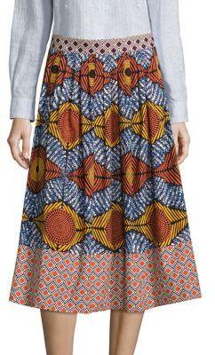 Max MaraWeekend Max Mara Cellula Printed Cotton Skirt