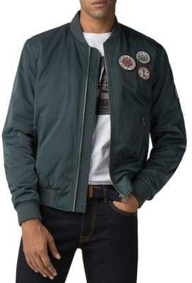 Ben Sherman Sateen Badge Bomber Jacket