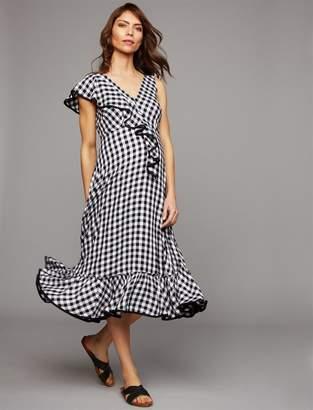 Ruffled Maternity Dress