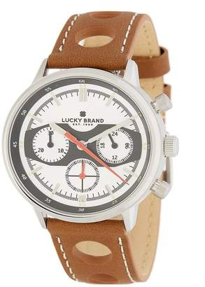 Lucky Brand Men's Fairfax Perforated Leather Strap Watch, 40mm