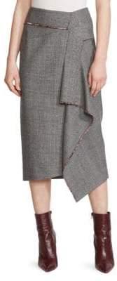 Roland Mouret Peterson Wool Midi Skirt