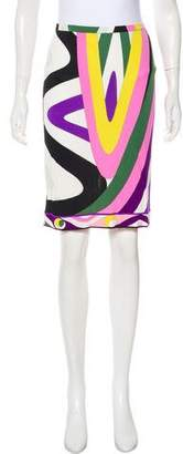 Emilio Pucci Printed Knee-Length Skirt