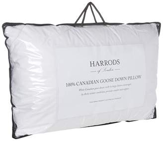 Harrods 100% Canadian Goose Down Pillow (Medium/Firm)