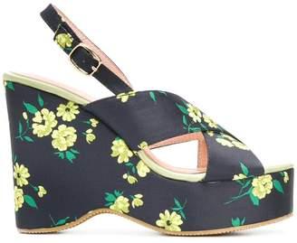 Essentiel Antwerp Pesteban floral platform sandals