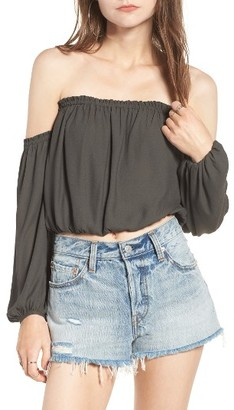 Women's Lush Off The Shoulder Blouse $45 thestylecure.com