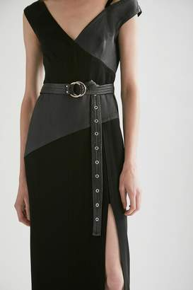 Yigal Azrouel Off The Shoulder Leather Gown