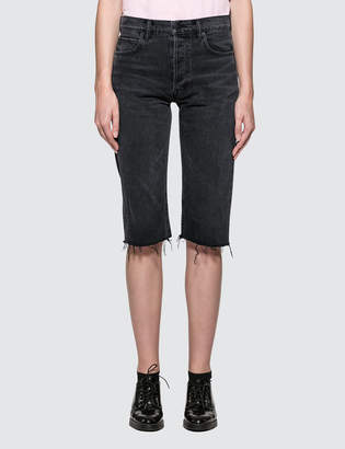Helmut Lang Cut Off Knee Length Shorts