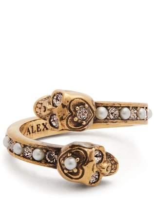 Alexander McQueen Embellished-skull ring