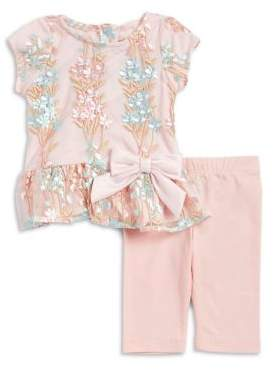 Rare Editions Baby Girl's Two-Piece Top and Pants Set