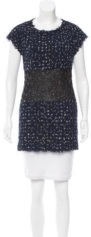 ChanelChanel Mesh Panel Tweed Tunic