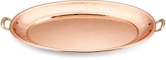 One Kings Lane Copper-Plated Platter with Brass Handles