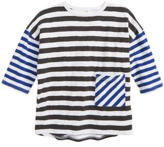 Stem Mixed Stripe Pocket T-Shirt