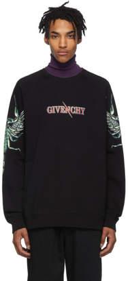 Givenchy Black Scorpio Raglan Sweatshirt