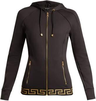 Versace Logo-jacquard zip-through performance jacket