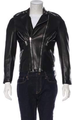 Saint Laurent 2013 Lambskin Zip-Accented Moto Jacket