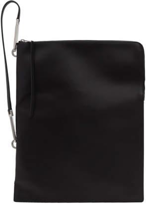 Rick Owens Black Flat Bucket Bag