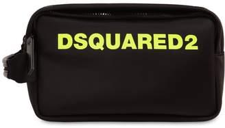 DSQUARED2 Logo Printed Nylon Toiletry Bag