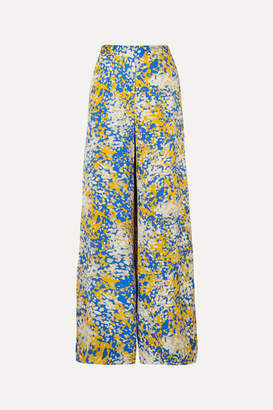 Stella McCartney Net Sustain Printed Crepe Wide-leg Pants - Blue