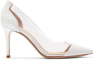 Gianvito Rossi White Patent Plexi Heels