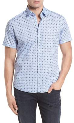 Stone Rose Contemporary Fit Monkey Print Sport Shirt