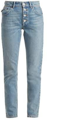 Balenciaga Tube High Rise Straight Leg Jeans - Womens - Light Blue