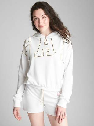 Gap Metallic Logo Pullover Hoodie in French Terry