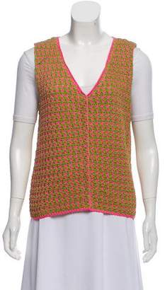 Prada Knit V-Neck Vest