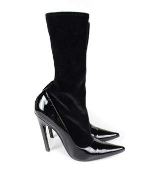 Balenciaga Knife patent leather boots